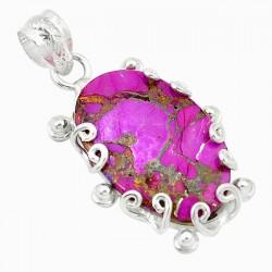 Pandantiv bijuterie din argint 925 cu turcoaz violet