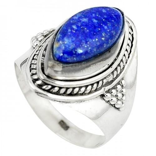 Inel bijuterie din argint 925 cu lapis lazuli