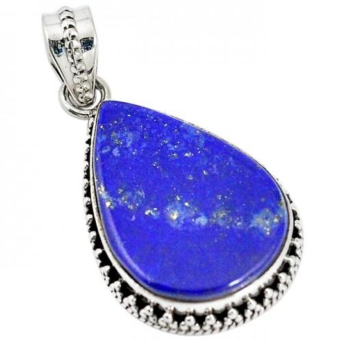 Pandantiv bijuterie din argint 925 cu lapis lazuli