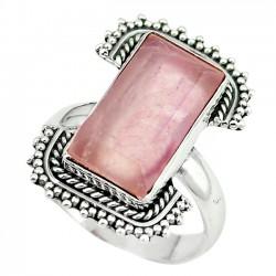 Inel bijuterie din argint 925 cu cuart roz