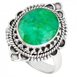 Inel bijuterie din argint 925 cu smarald