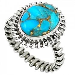 Inel bijuterie din argint 925 cu turcoaz albastru