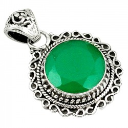 Pandantiv bijuterie din argint 925 cu smarald