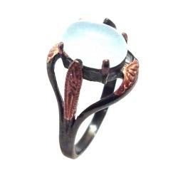 Inel bijuterie din argint 925 cu acvamarin