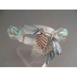 Bratara bijuterie cu pietre si ornamente metalice