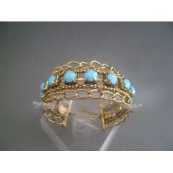 Bratara bijuterie lata cu pietre bleu