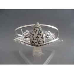 Bratara bijuterie cu piatra dalmatian