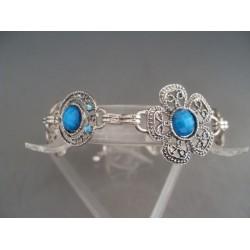 Bratara bijuterie cu pietre albastre