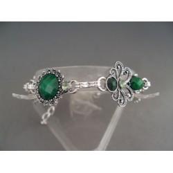 Bratara bijuterie cu pietre verzi
