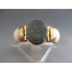 Bratara bijuterie cu piatra ovala verde