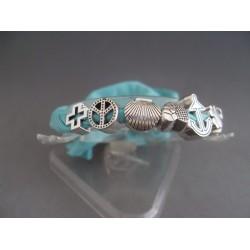 Bratara bijuterie albastra cu ornamente