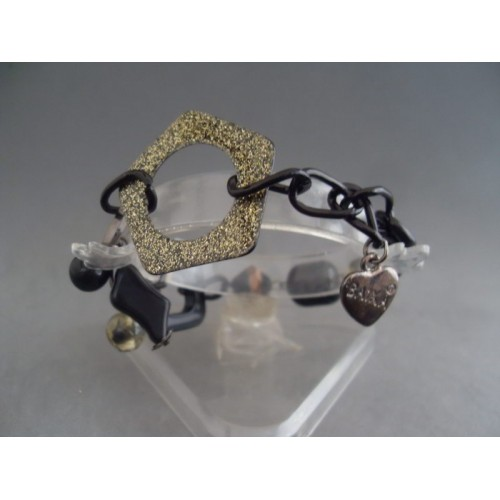 Bratara bijuterie neagra cu ornamente