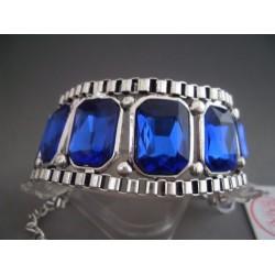 Bratara bijuterie lata cu cristale albastre