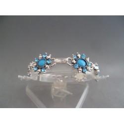 Bratara bijuterie cu cristale si pietre albastre