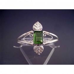 Bratara bijuterie lata cu piatra verde-peridot