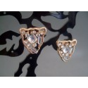 Cercei bijuterie cu cristale albe