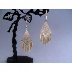 Cercei bijuterie aurii cu ornamente