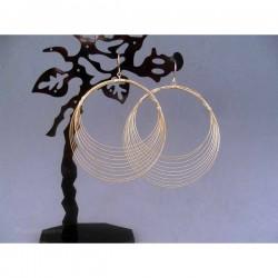 Cercei bijuterie aurii circulari multi-fir
