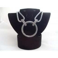 Colier bijuterie negru cu cristale