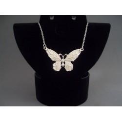 Colier bijuterie cu pandantiv fluture