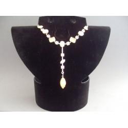 Colier bijuterie cu pietre si cristale