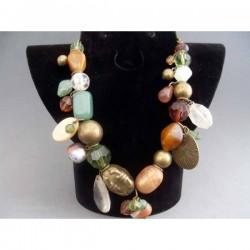 Colier bijuterie in culori de toamna