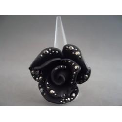Inel bijuterie trandafir negru