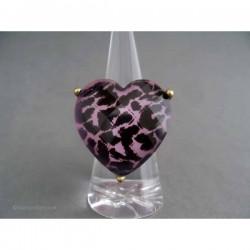 Inel bijuterie inima leopard
