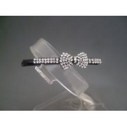 Agrafa bijuterie cu fundita si cristale