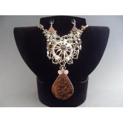 Set bijuterii incas cu medalion floral