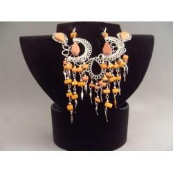 Set bijuterii peruvian cu pietre caramizii