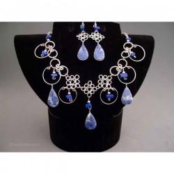 Set bijuterii peruvian cu pietre albastre
