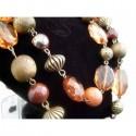 Set bijuterii cu cristale aramii